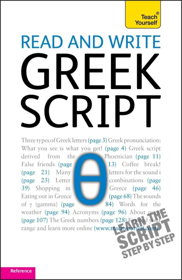 Read and write Greek script: Teach yourself / Read and Write Languages