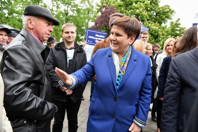 Pińczów, 14.05.2019. Spotkanie wyborcze wicepremier Beaty Szydło, która kandyduje do Europarlamentu.
