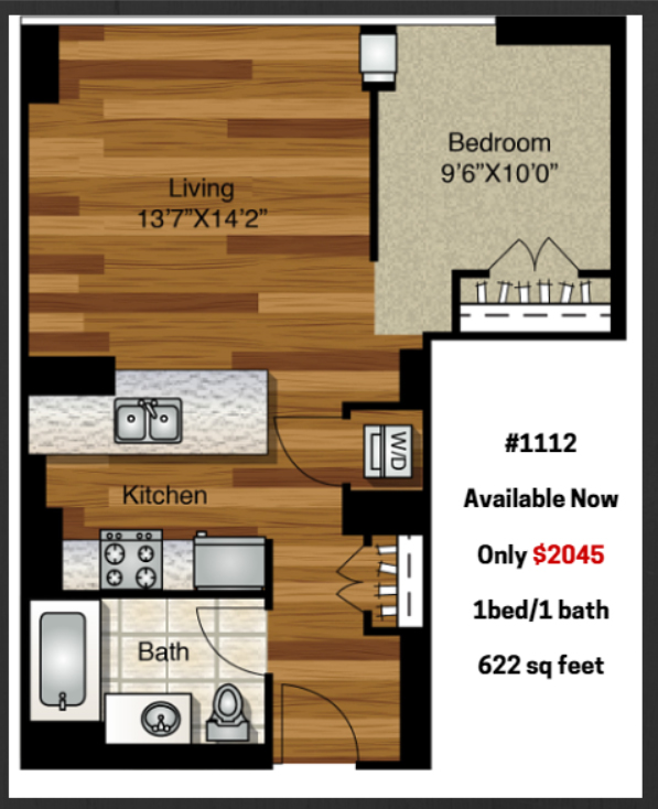 A Junior 1 Bedroom At K2 For 2 045 Month Yochicago