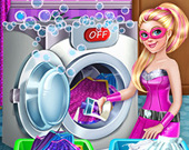 Флеш игра Супер Барби стирает плащи - играть онлайн ...