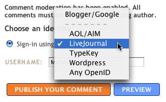 Wordpress OpenID In Blogspot