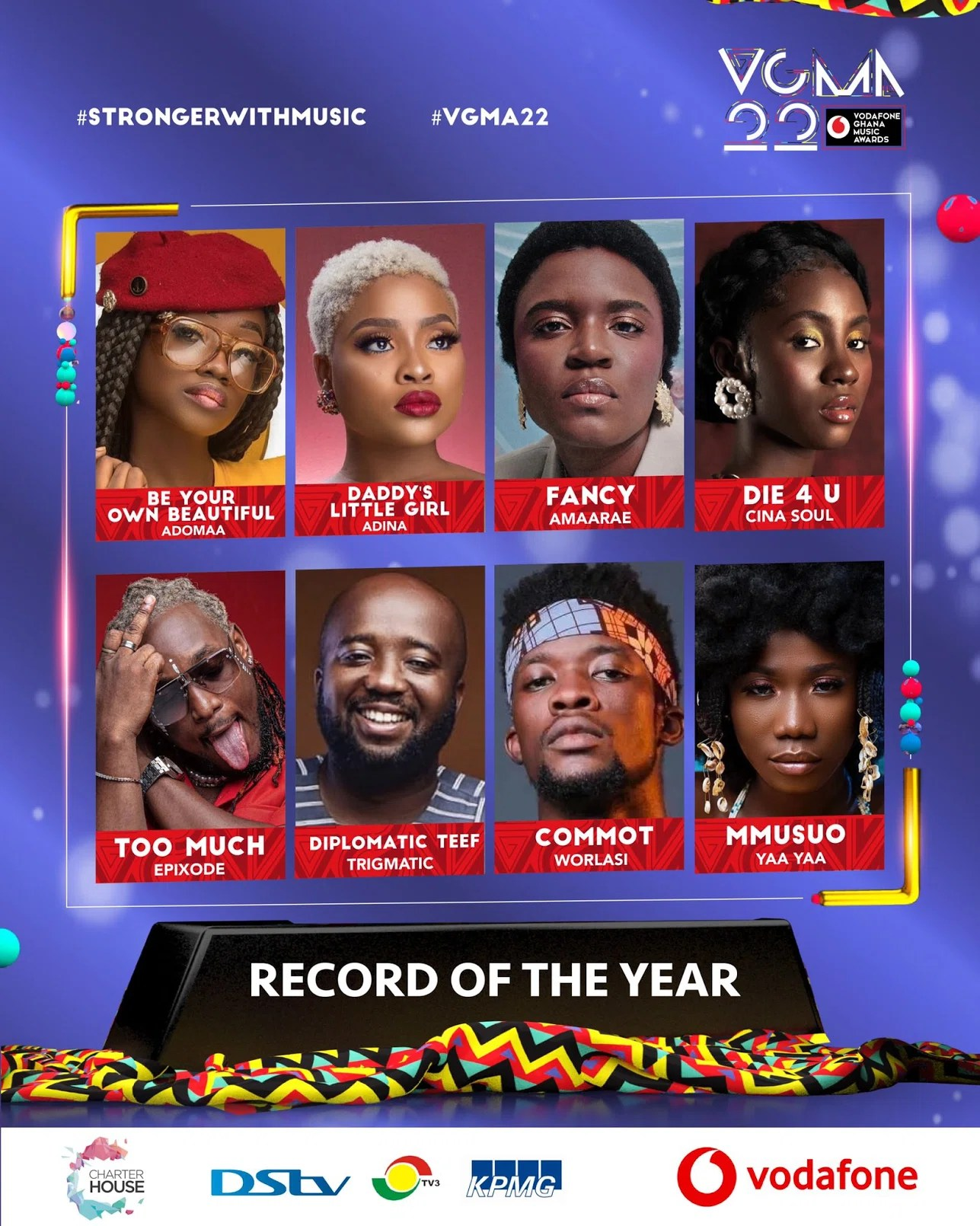 20210403 130844 Chartered House Has Released The Nominees List Of The 22nd Edition Of VGMA Awards