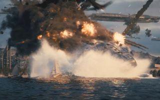 使命召唤13 这段画面快赶上电影了!超级空天航母被击落 几千亿就这么没了