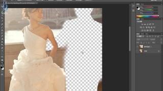 ps教程photoshop图片处理 淘宝美工ps扣图并修补图片案例实战教程 冰美人设计
