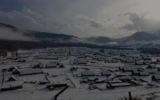 喀纳斯 新疆雪景色