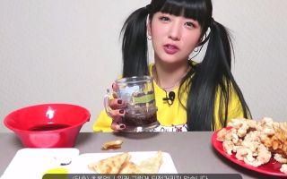 【机翻中字】APINK 尹普美油管日常之韩式中餐吃播 190222
