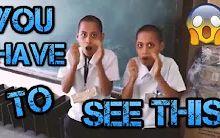 外国人转疯的两个小学生,用手演奏电音神曲Animals!你一定要看!!