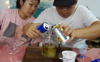 【大胖和软软】自制硬核夏日饮品!教程 吃播 吃货 美食 情侣 相声