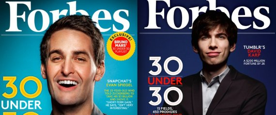 Forbes 30 under 30 cover