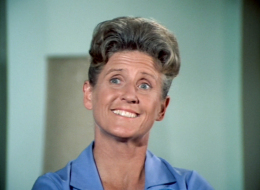 Ann B. Davis as Alice Nelson in the BRADY BUNCH episode, 'The Subject Was Noses.' Original air date, February 9, 1973. Image is a screen grab. (Photo by CBS via Getty Images)