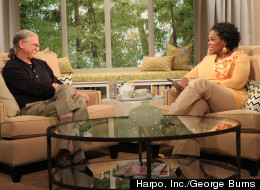 Photograph of Michael Singer with Oprah
