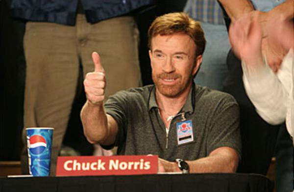Image result for dodgeball chuck norris thumbs up