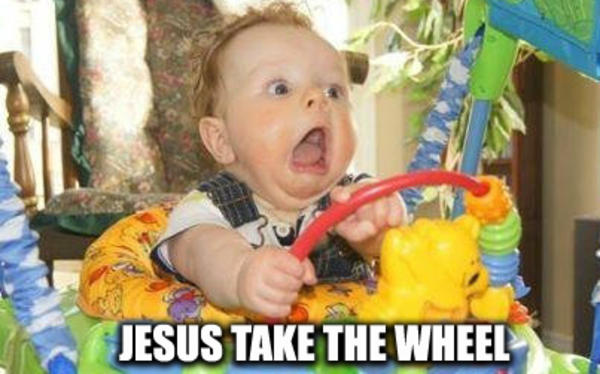 Image result for jesus take the wheel