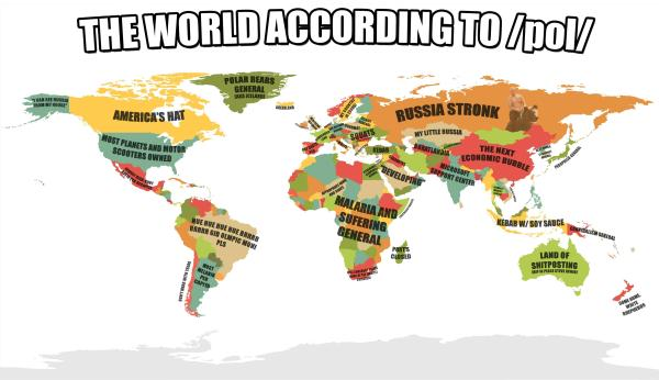 The World According To /pol/ (Bigger, less dense) | /pol ...