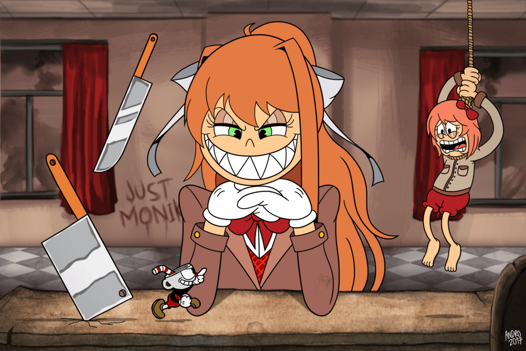 Cuphead Dont Deal With The Literature Club By