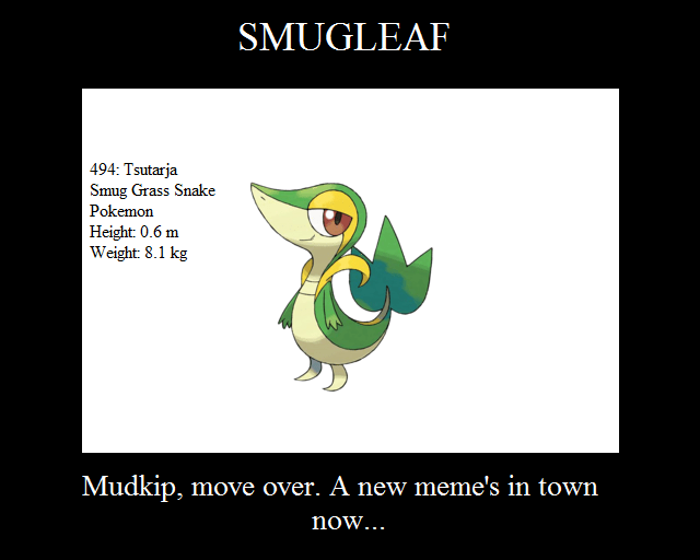 Image 50025 Smugleaf Snivy Know Your Meme