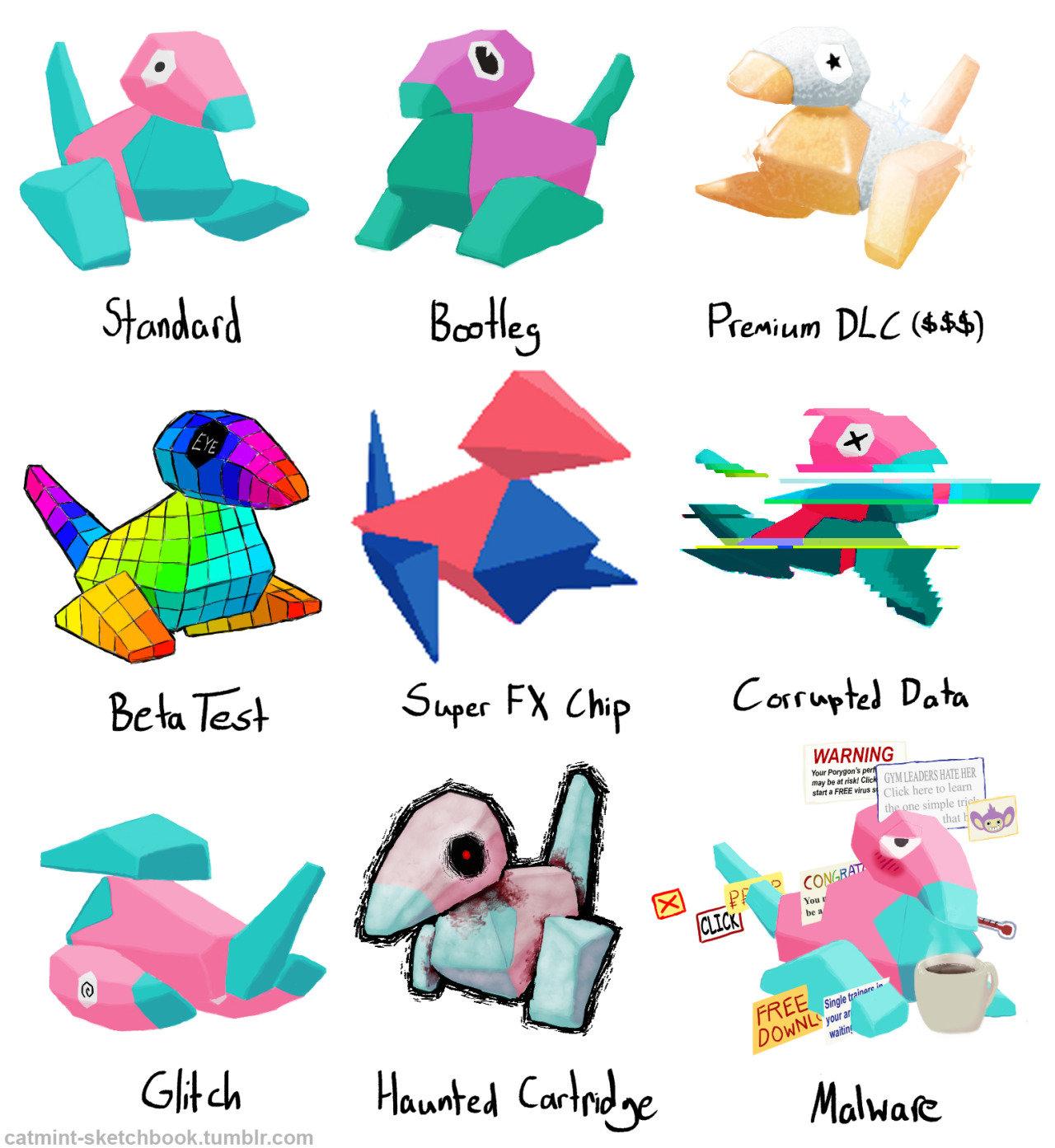 Porygon Variations Pokemon Variants Know Your Meme