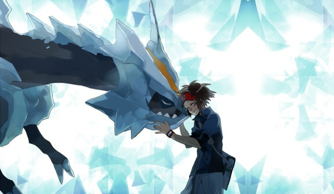 Image result for pokemon Nate and Black kyurem