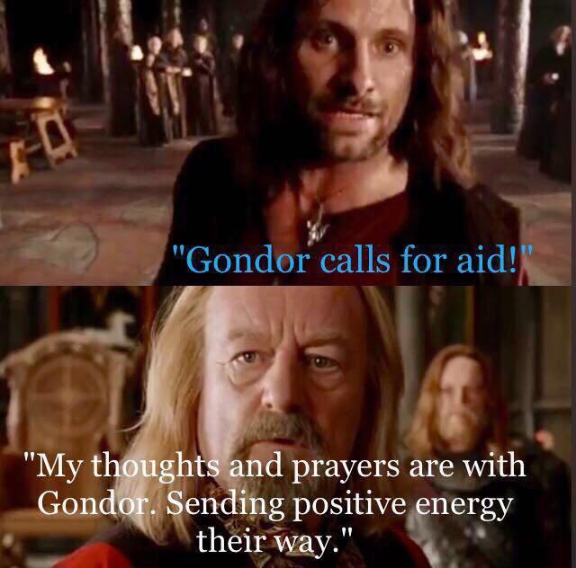 Image result for thoughts and prayers gondor