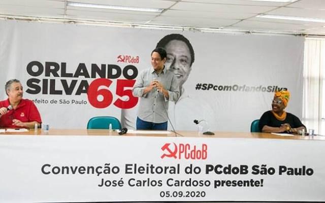 Orlando Silva em convenção do PCdoB