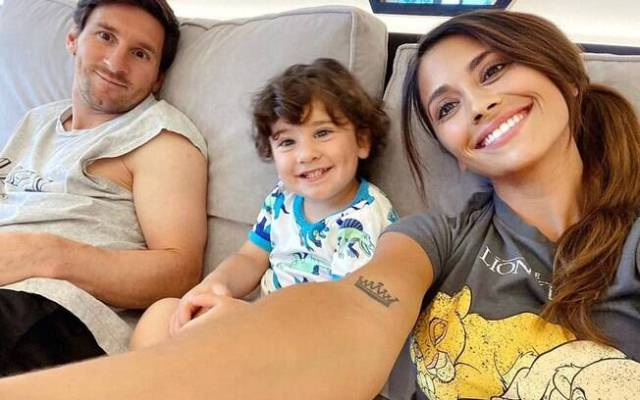 Messi e família. Foto: Instagram