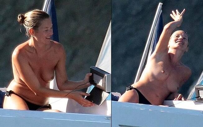 A top Kate Moss adora fazer topless. Foto: Reprodução