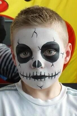 Resultado de imagem para halloween maquiagem nas criancas