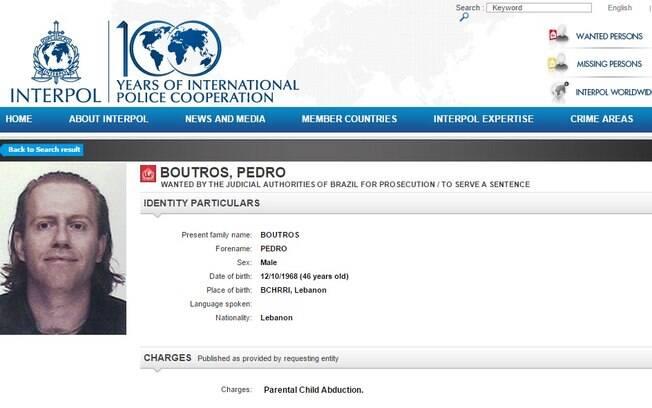 O empresário Pedro Boutros Boutros está na lista dos mais procurados pela Interpol, a polícia internacional. Foto: Divulgação