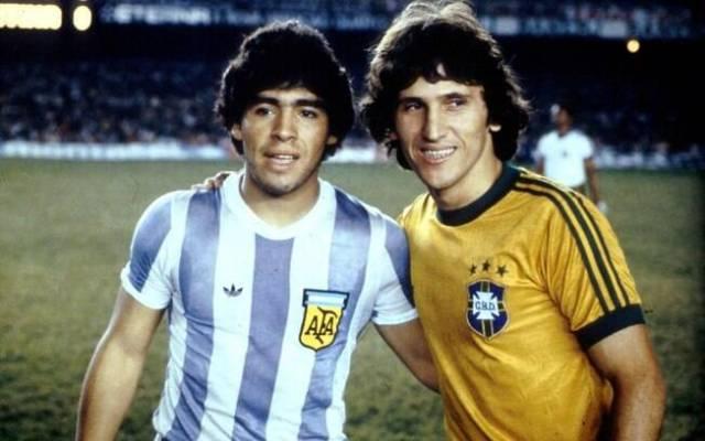 Pela seleção, Zico encontrou Maradona em duelo contra a Argentina. Foto: Arquivo