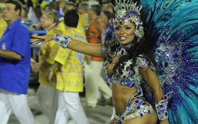 Desfile da Beija-Flor. Foto: Anderson Borde/AgNews