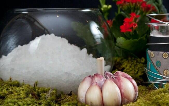 Banho de sal grosso e ervas