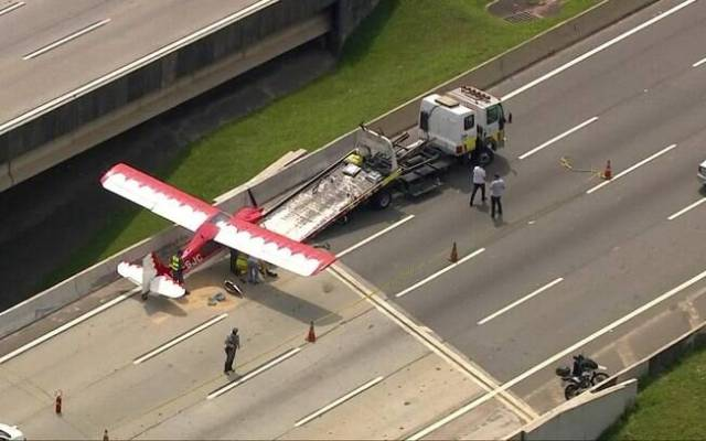 Pouso de emergência Avião Rodoanel