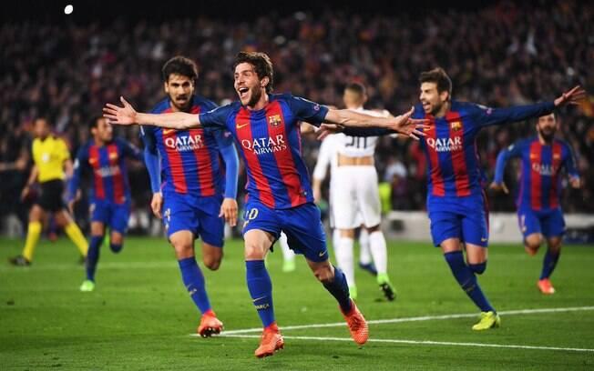 Sergi Roberto fez o gol da vitória nos últimos minutos após belo passe de Neymar