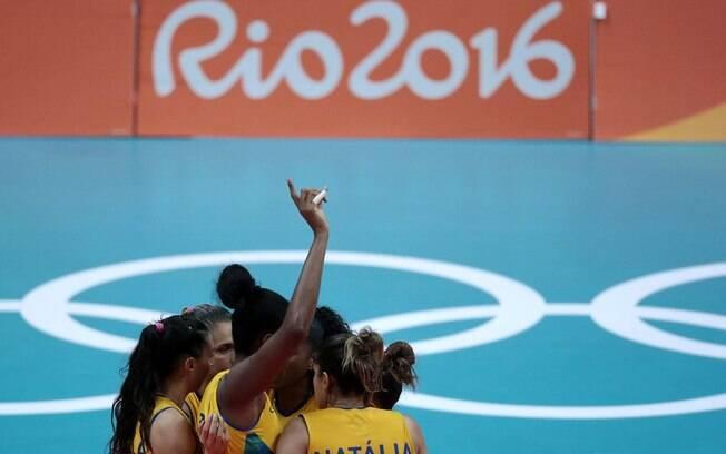 Brasil venceu Rússia por 3 sets a 0