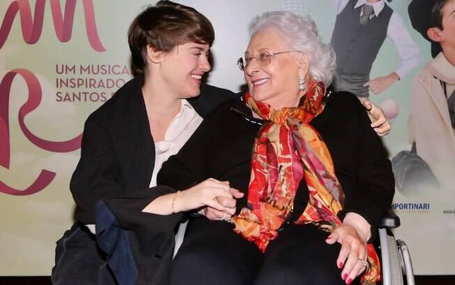 Alessandra Maestrini e dona Lia Maria Aguiar