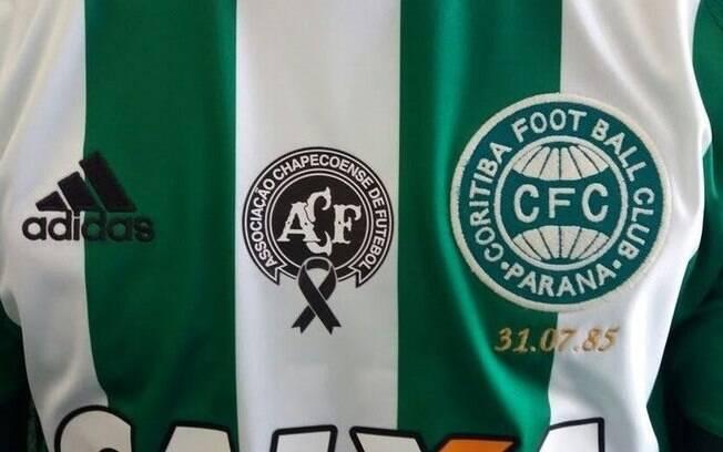 Coritiba também homenageou a Chape. Foto: Reprodução