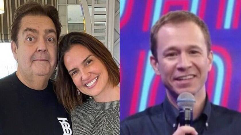 Faustão's wife thanks Tiago Leifert for remembering the presenter