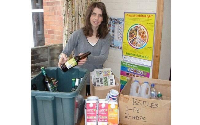 Recicle, reuse, reaproveite. Como a família Green, que encheu apenas um saco de lixo pelo ano todo. Foto: Reprodução
