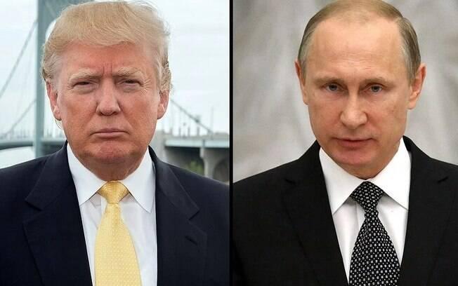 Trump e Putin trocaram elogios durante toda a campanha do republicano à presidência dos Estados Unidos