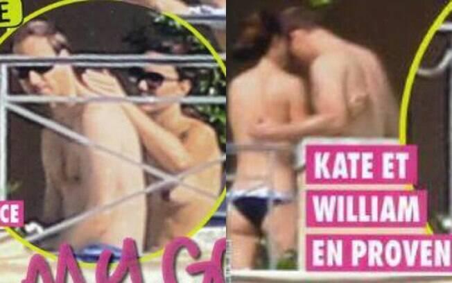 Kate Middleton é fotografada fazendo topless durante recentes férias com Príncipe William no Sul da França. Foto: Reprodução revista