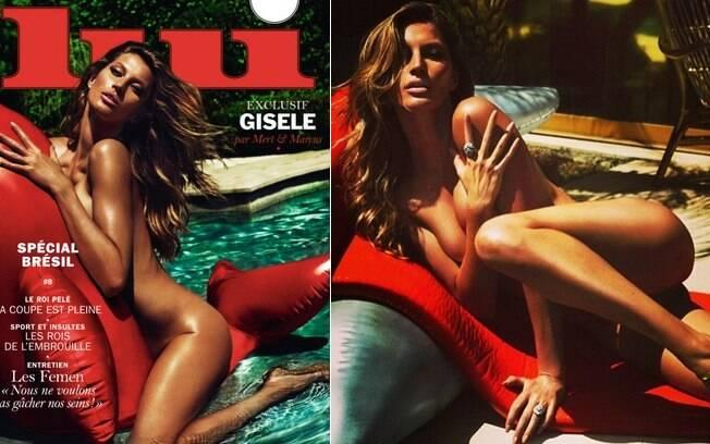 Em 2014, a revista francesa Lui colocou Gisele na capa de uma edição especial sobre o Brasil e fez muito bem . Foto: Reprodução