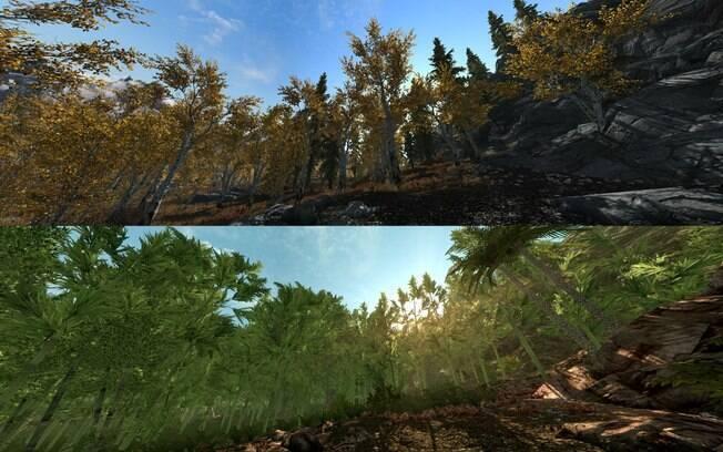 Quase Um Far Cry 3 Mod Transforma Cenrio Polar De Skyrim