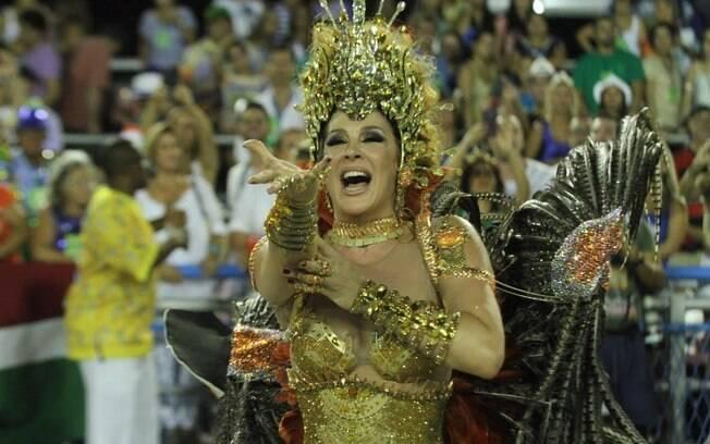 Claudia Raia brilhou mais uma vez pela Beija-Flor. Foto: Anderson Borde/AgNews