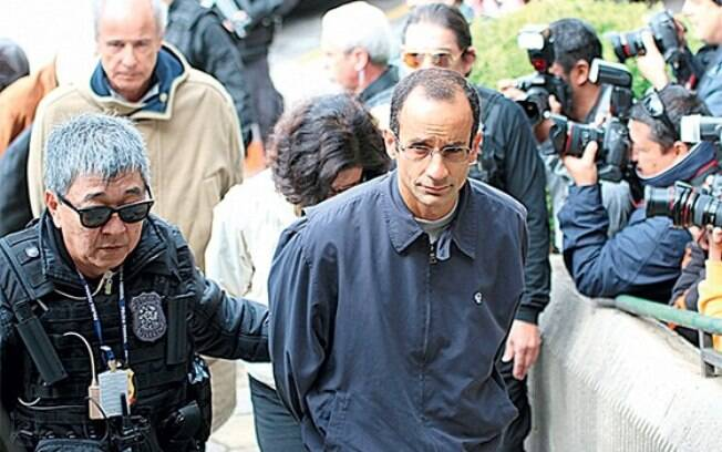 Marcelo Odebrecht, presidente da empreiteira Odebrecht, sendo preso