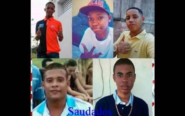 Wesley Castro, Wilton Domingos Junior, Cleiton de Souza, Carlos Eduardo Souza e Roberto Penha
