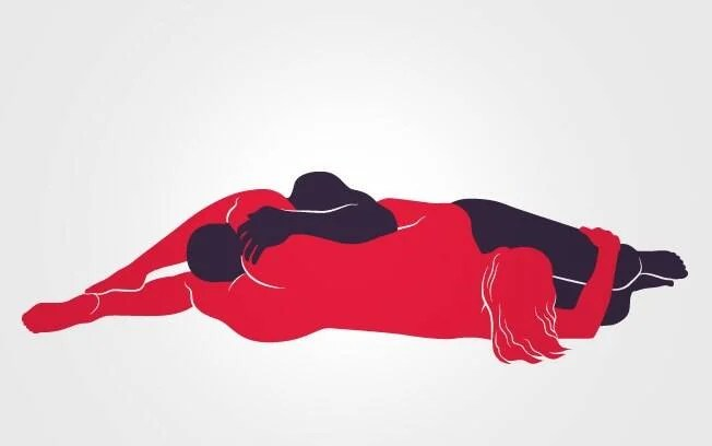 69: Deitados de lado, homem e mulher usam a boca para estimular o parceiro com uma longa sessão de sexo oral. As mãos ficam livres para fazer carícias. Foto: Renato Munhoz (Arte iG)