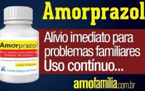 Propaganda do amorprazol promete alívio imediato aos problemas familiares, porém psicoterapeuta contesta sua eficácia. Foto: Divulgação