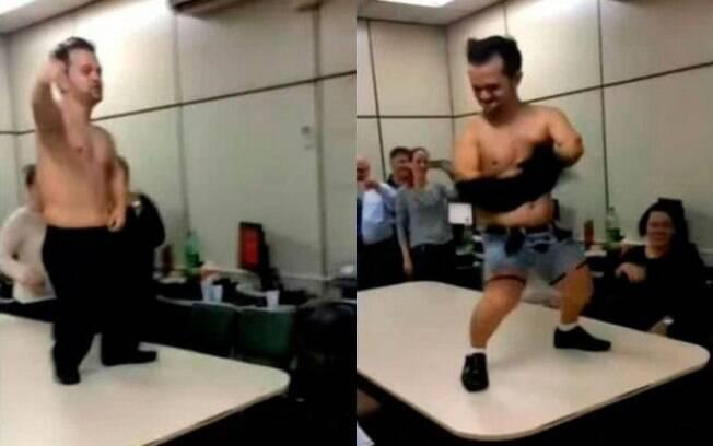 Gogo boy foi filmado fazendo strip-tease em delegacia de São Paulo