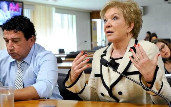 A senadora e relatora do projeto, Marta Suplicy: