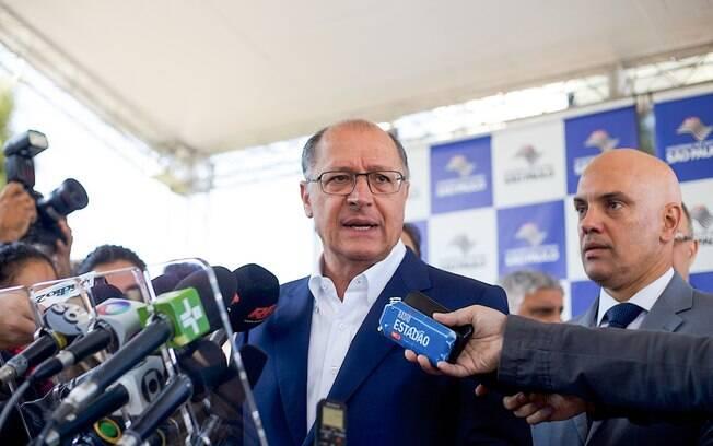 Alckmin e Alexandre de Moraes, que fizeram pressão para tornar hediondo homicídio de agentes